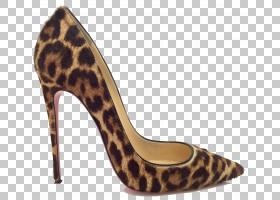 豹子高跟鞋,人腿,碱性泵,米色,高跟鞋,克里斯蒂安・鲁布托,脚趾,
