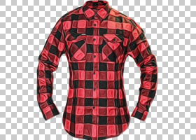 红色水彩花,格子呢,上衣,夹克,领口,顶部,T恤,按钮,礼服衬衫,纺织