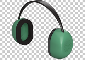 耳机卡通,音响设备,技术,绿色,头戴式耳机,设计规范,AB试验,音频