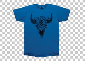 蓝色T恤,现役衬衫,T恤衫,顶部,Microsoft Azure,钴,动物,衬衫,袖
