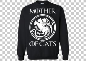 CAT背景,徽标,现役衬衫,外衣,长袖T恤,运动衫,T恤衫,黑色,服装,船