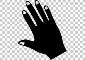 指甲指甲,拇指,自行车设备和用品,手势,手套,黑白相间,个人防护装