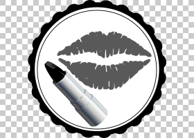 化妆卡通,黑白相间,睫毛,眼睛,改头换面,指甲油,睫毛膏,化妆,口红