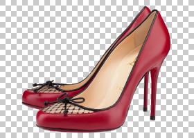 宫廷鞋高跟鞋,碱性泵,红色,鞋类,高跟鞋,克里斯蒂安・鲁布托,指甲