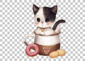 小猫卡通,长毛绒,胡须,毛绒玩具,杯子,小猫咪,羽绒,椅子,床,动物