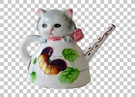 猫卡通,饮品,餐具,猫,小雕像,杯子,田纳西州,茶壶,马克杯,瓷器,水