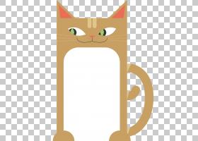 小猫卡通,动画片,线路,尾巴,爪子,喝酒,绘图,马克杯,杯子,猫,胡须
