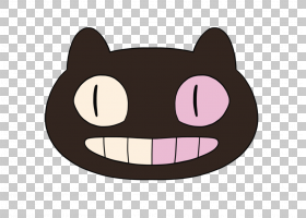 猫卡通,动画片,嘴,面部表情,鼻子,黑色,微笑,头,粉红色,元宇,金明