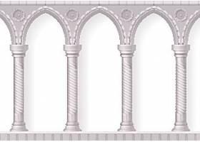 欧式柱子建筑矢量