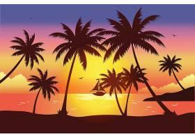 三亚海滩的黄昏