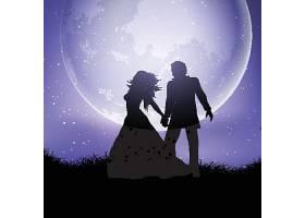 月光下的情侣
