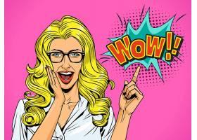 职业女性与对话框