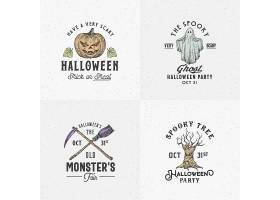 创意万圣节品牌名称公司徽标业务公司设计元素LOGO设计