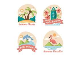 高清创意卡通个性夏天图标沙滩标志海上运动图案LOGO设计元素