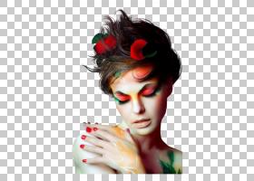 女人脸,发饰,男人,睫毛,美丽,前额,指甲油,剧场性质,遮罩,肖像,染图片