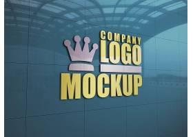 大型公司墙体LOGO展示样机