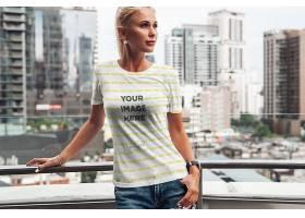 高清白色蝙蝠翼T恤第2部分模拟套装女T恤样机设计