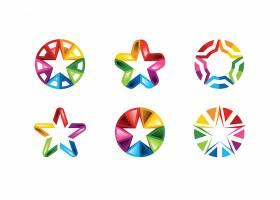 彩虹色炫彩渐变LOGO设计
