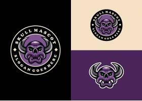 紫色骷髅LOGO设计