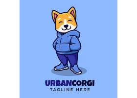 穿衣服的小狗LOGO设计