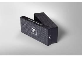黑色纹理品牌包装盒子样机