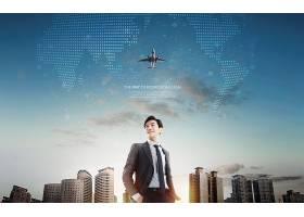 年轻商务男子金融互联网主题海报