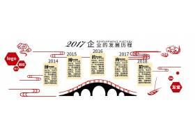 中国风微立体企业文化墙活动室形象墙展板