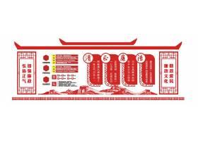 红色中国风党建镂空微立体文化墙立体墙