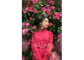 韩式清新人物写真主题海报设计图片