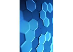 蓝色立体晶格科技背景