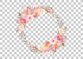 淡雅水彩花纹边框