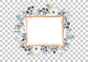 紫罗兰花剪贴画和画框