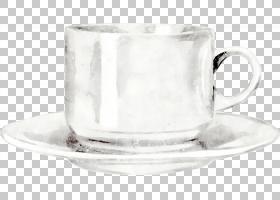 咖啡杯手绘插画免扣元素素材