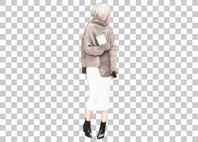 时尚创意手绘水彩彩铅女性人物角色插画免扣素材