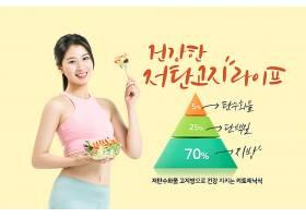 营养均衡食物减肥绿色塑身主题海