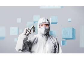 芯片与研究主题韩式海报设计图片