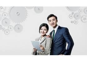 商务男女拍档主题韩式海报设计