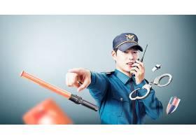 警员警察主题人物海报设计