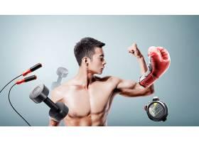 运动健身的男子主题人物海报设计