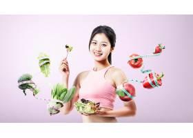 营养健康塑身减肥主题人物海报设