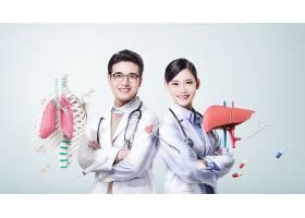 医护人员与健康主题人物海报设计