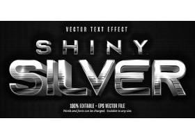 银色立体主题英文字体样式设计