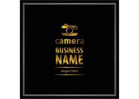 黑金数码相机主题徽章图标LOGO设计