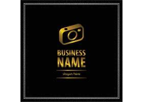 黑金相机主题徽章图标LOGO设计