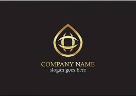 黑金商务通用主题徽章图标LOGO设计