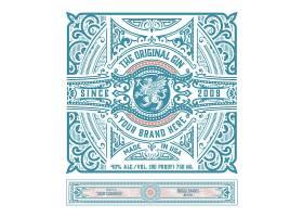 欧式大气经典曼陀罗花纹边框装饰图案设计