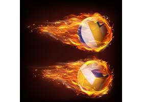 带火焰光芒的球体运动状态矢量装饰素材