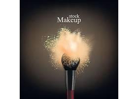 化妆粉笔刷主题海报设计