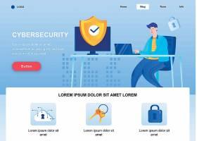 网络安全网页模板