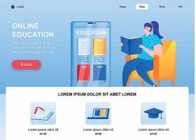 在线教育网页模板